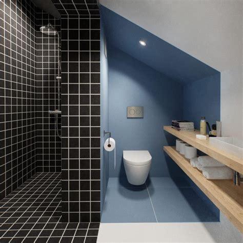 sleek bathroom design sleek black tile shower interior design ideas