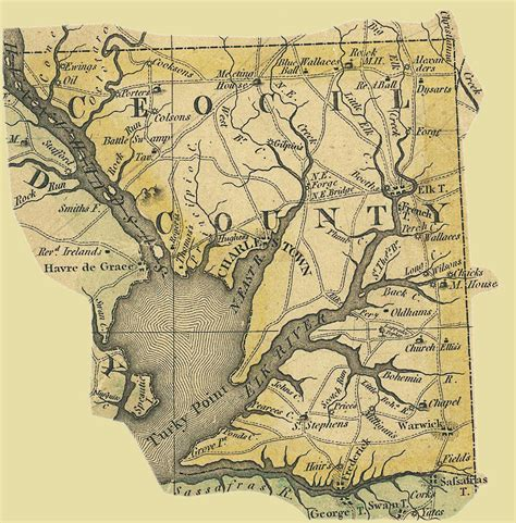 maryland map cecil county images