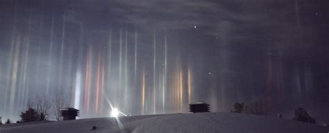 light pillars mysterious looking light pillars have appeared in the
