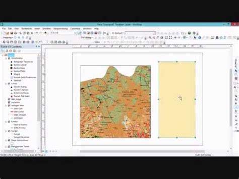 tutorial layout arcgis 10 tutorial layout peta topografi di arcmap 10 1 youtube
