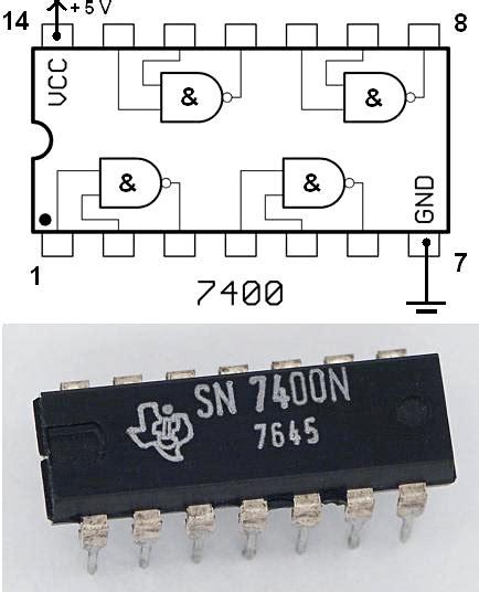 74ls00 integrated circuit chip datasheet 7400 series