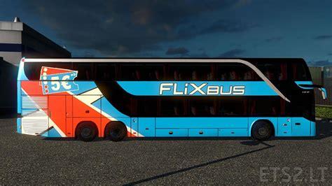 download game euro truck simulator bus mod setra s431dt flixbus blue skin download free game mods