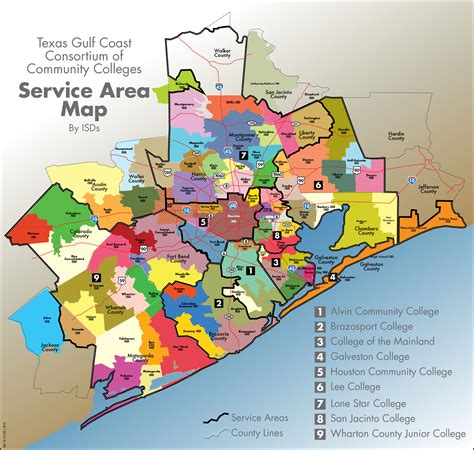 texas independent school districts map member colleges texas gulf coast community college consortium