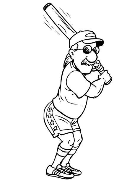 coloring pages free printable baseball printable baseball batter coloring page wearing shades