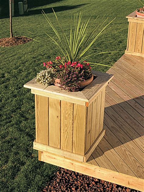 How To Build Planter Boxes For Decks by Wooden Planter Box Plans Free