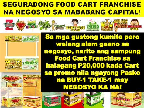 food cart franchise below 50k ten 10 food cart franchise for as low as p40 000 for two cart