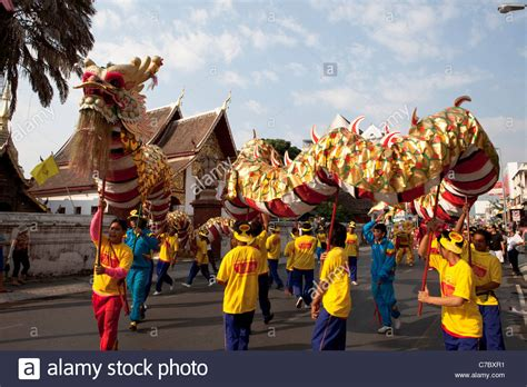 new year in thailand new year chiang mai thailand stock photo