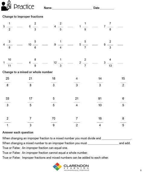 Improper Fractions Worksheet by Free Worksheet Changing Improper Fractions To Mixed
