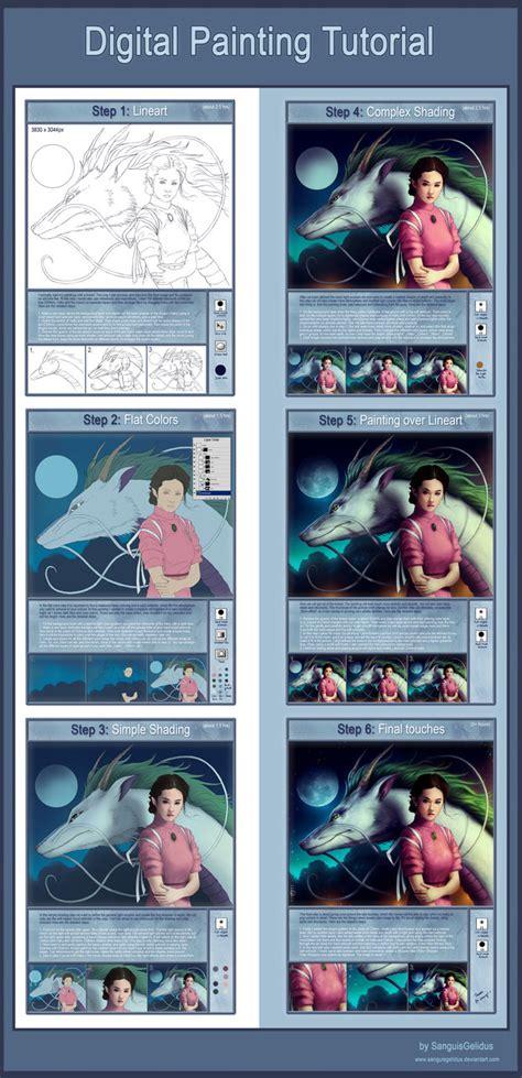tutorial video digital digital painting tutorial spirited away by jojoesart on