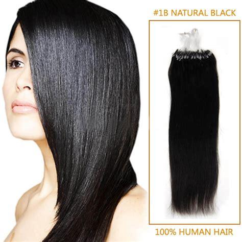 black 1b micro loop human 26 inch 1b black micro loop human hair extensions