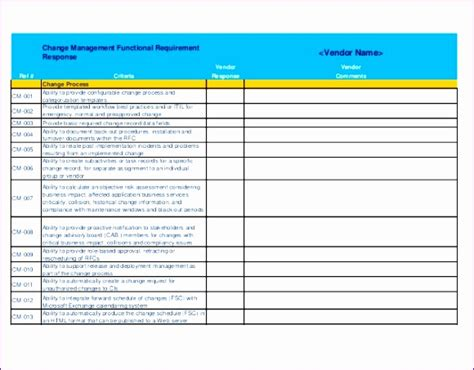 10 Software Requirements Template Excel Exceltemplates Exceltemplates Software Evaluation Template Excel