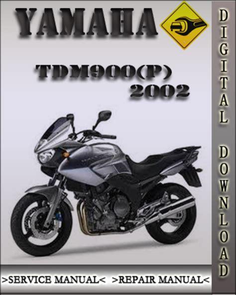 2002 Yamaha Tdm900 P Factory Service Repair Manual