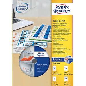 Ordner Etiketten Drucken Programm by Avery Zweckform Adp5000 Design Print Software G 252 Nstig Kaufen
