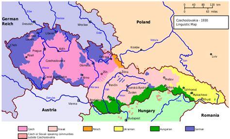 czechoslovakia map big blue 1840 1940 czechoslovakia