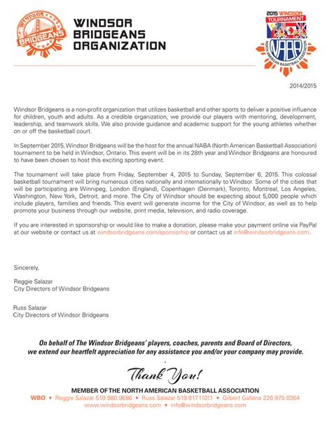 Donation Letter For Marathon Basketball Sponsorship Letter Docoments Ojazlink