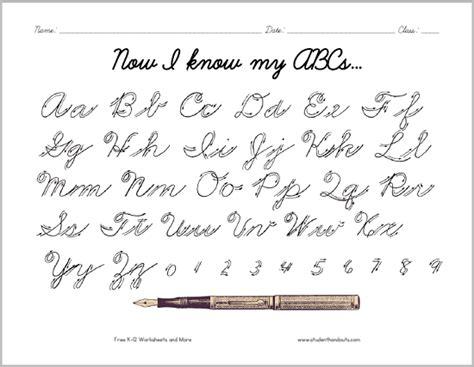 Cursive Alphabet Letters Pdf