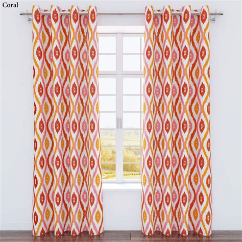 ikat curtain panel luna ikat medallion grommet curtain panels