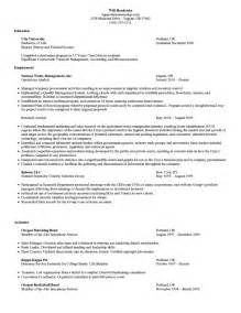 business school resume template curriculum vitae sles for mba students