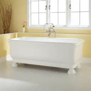 freestanding round bathtub 69 quot cesi acrylic freestanding tub round feet bathtubs