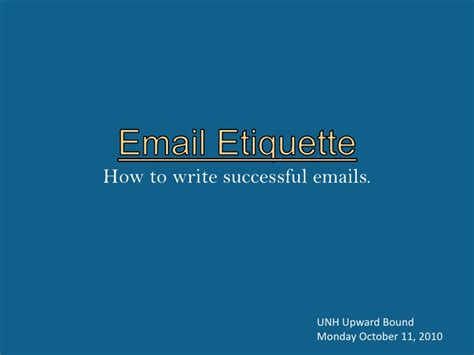 email ethics email etiquette presentation