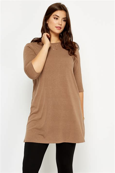 Aline Tunic a line brown tunic dress just 163 5