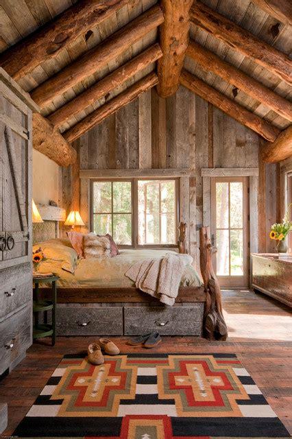 Log Cabin Big Sky Montana Headwaters C Cabin Big Sky Montana Rustic Bedroom