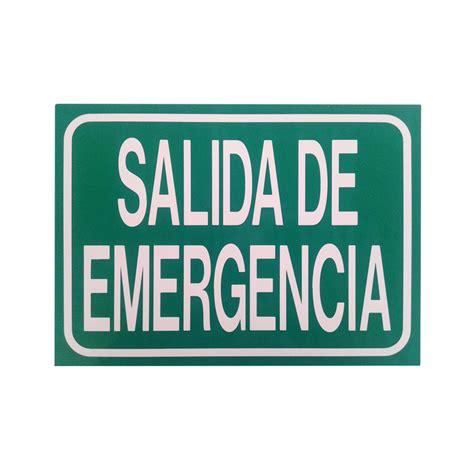 placas de salida de emergencia en mexico se 241 al salida de emergencia