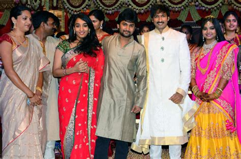 actor nani religion nani with his wife at gopichand marriage veethi