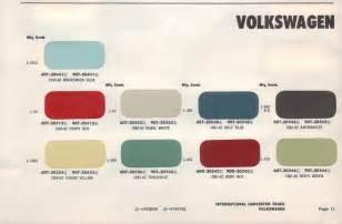 paint chips 1960 volkswagen