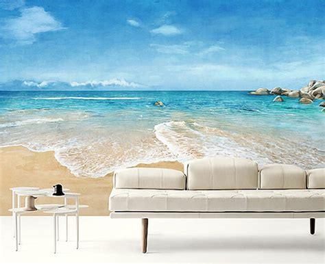 Wall Mural Beach Scene beach scene wallpaper epic sea wall mural blue ocean wall