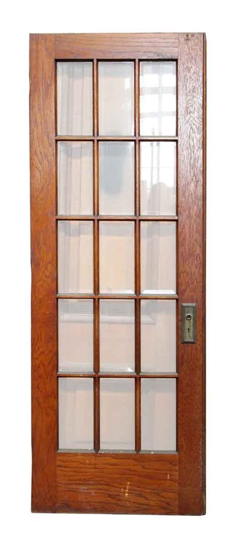 15 Glass Panel Interior Doors 15 Vertical Glass Panel Beveled Door Olde Things