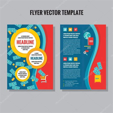 layout design vector abstract geometric flyer vector template in flat style