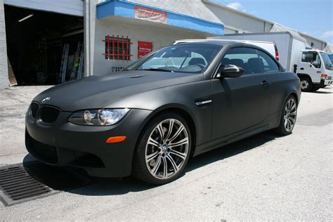 matte bmw bmw matte black car wrap fort lauderdale florida