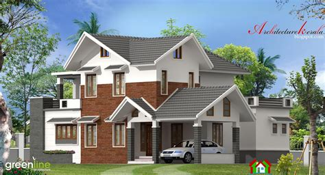 4 bhk modern style kerala house elevation architecture