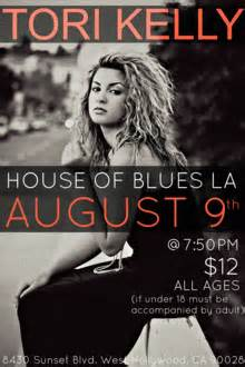Tori Kelly At House Of Blues La