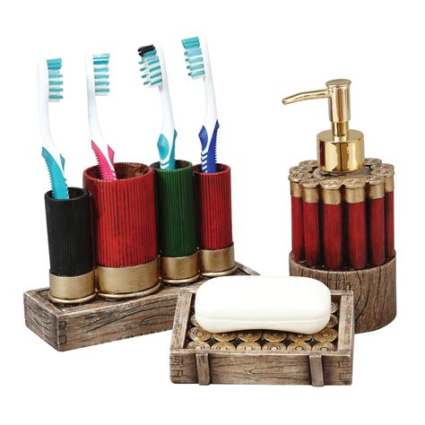 shell bathroom accessories shotgun shell bath accessories