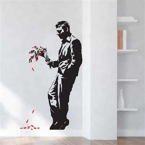 Wandaufkleber Banksy by Banksy Waiting In Vain Wandaufkleber Wandtattoo