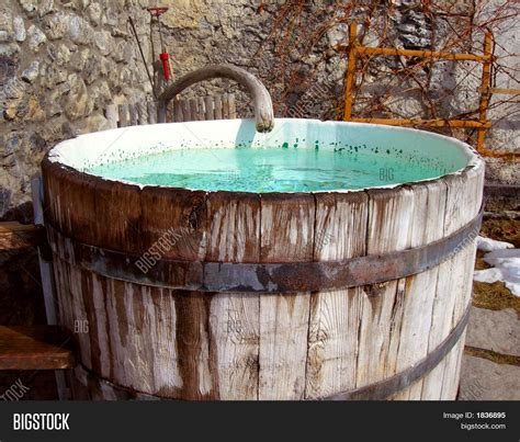outdoor bathtub outdoor bathtub image photo bigstock