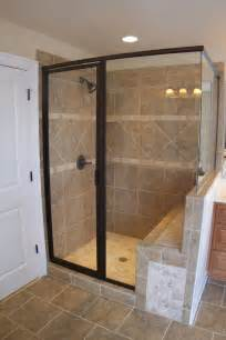 walk in shower with seat images