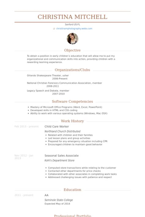 Sle Resume For Child Care Worker by Childcare Worker Resume Sales Worker Lewesmr