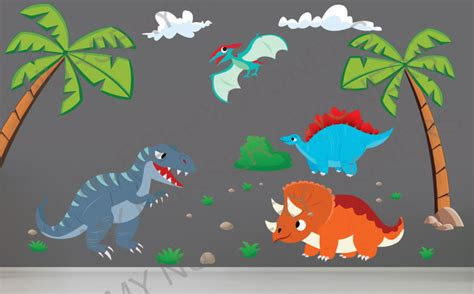 large dinosaur wall stickers dinosaur wall decals for nursery removable reusable