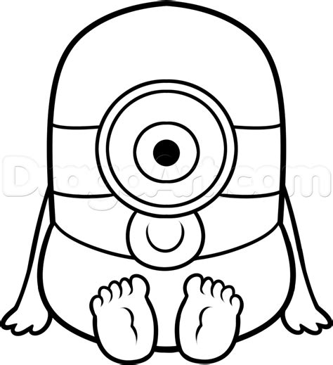 how to draw doodle sketch how to draw a baby minion step by step characters pop