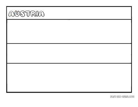 Austria Flag Coloring Page printable flag of austria coloring page printable