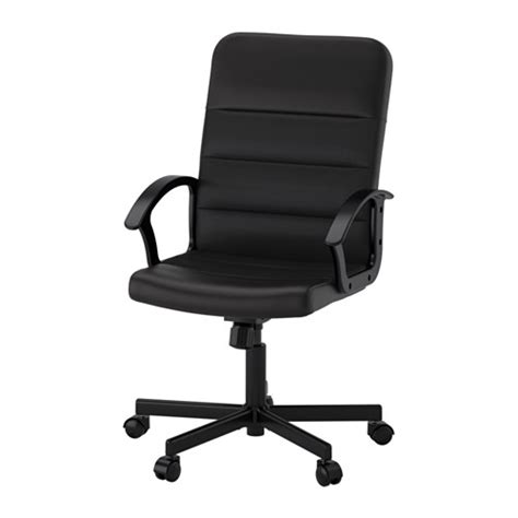 black swivel office chair renberget swivel chair ikea