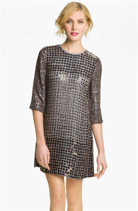 Is This Connection Shift The Dress Of The Season by Connection Embellished Shift Dress In Blue Lyst