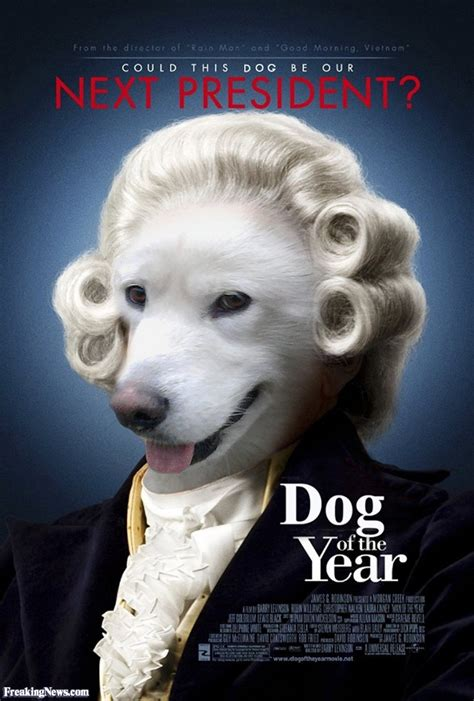 presidential dogs president in a wig pictures