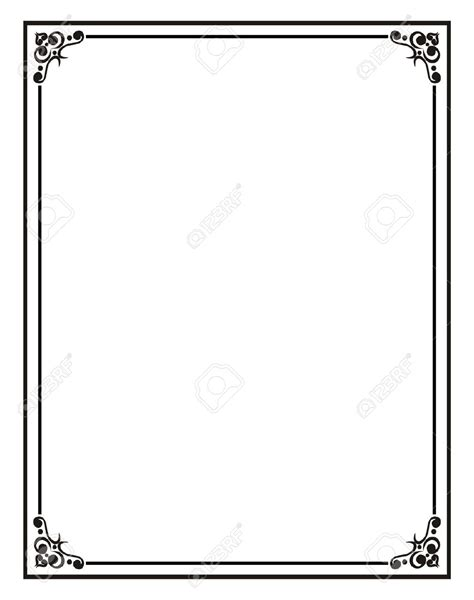 Home Office Certificate Border Stock Photos Pictures Royalty Free With Regard To Word Document Microsoft Word Frame Templates