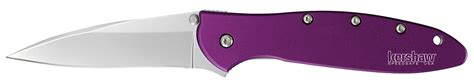 wharncliffe folder kershaw 1660pur 1660 folder steel wharncliffe blade
