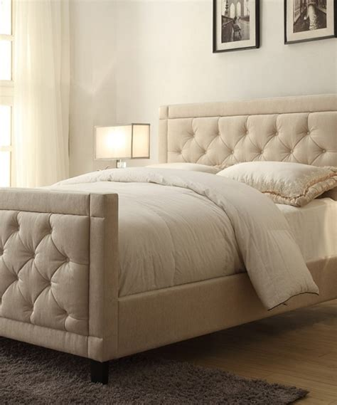 fabric headboard and footboard upholstered headboards linen caiden upholstered headboard