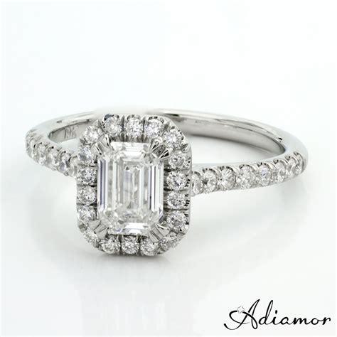 custom emerald cut engagement rings adiamor